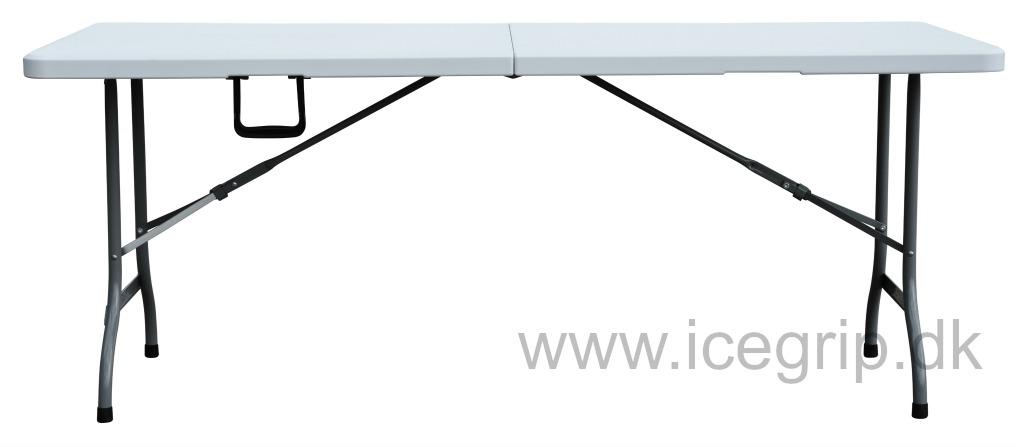 Utroligt Foldebord 180cm | PVC | plast klapbord i kraftig kvalitet LR28