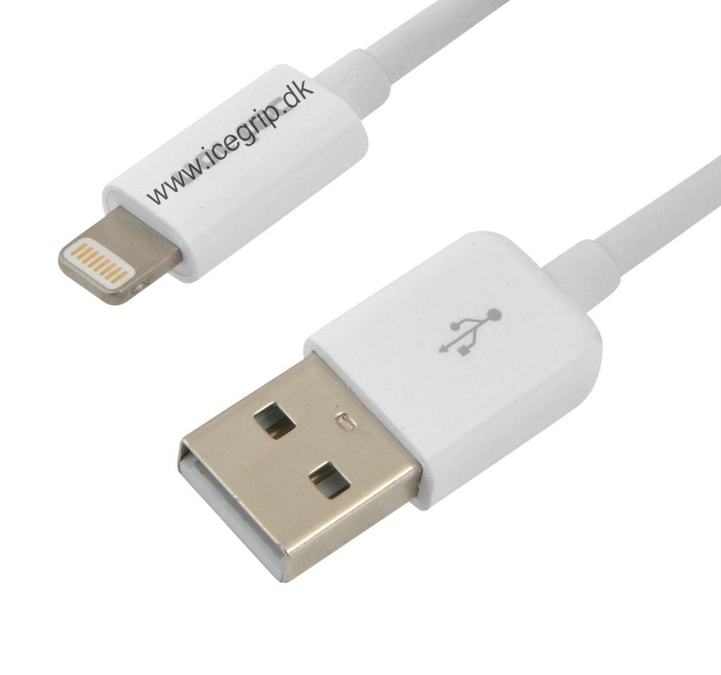 iphone kabel 1 meter apple mfi licens lightning ipod. Black Bedroom Furniture Sets. Home Design Ideas